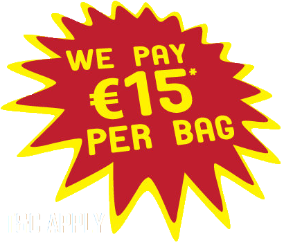 We buy clothes. 15eu per bag. T&C APPLY