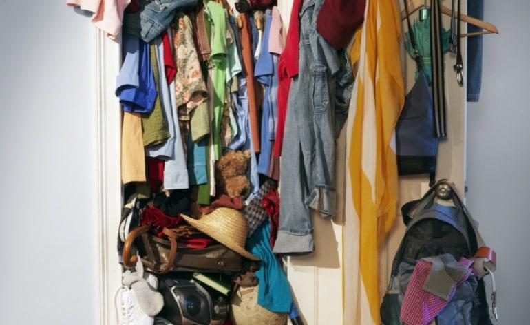Wardrobe stuffed